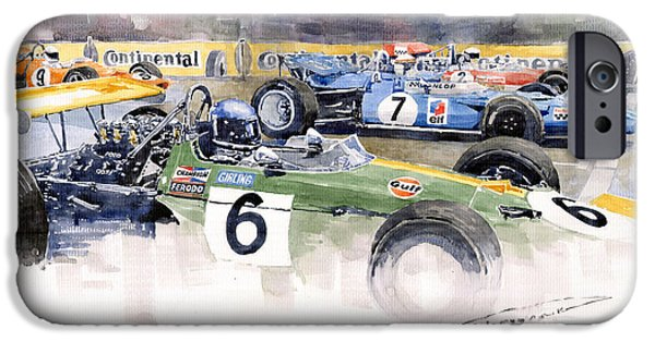 Motor Sport iPhone Cases - Germany GP Nurburgring 1969 iPhone Case by Yuriy  Shevchuk