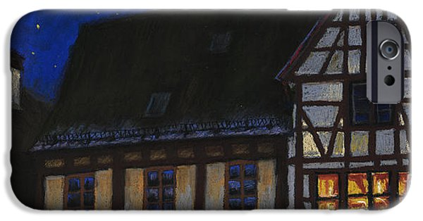 Moon Pastels iPhone Cases - Germany Ulm Fischer Viertel MoonRoofs iPhone Case by Yuriy  Shevchuk
