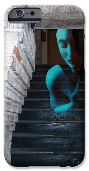 Survivor Art iPhone Cases - Ghost of Pain - Self Portrait iPhone Case by Jaeda DeWalt