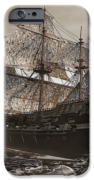 Ghost Ship of the Cape iPhone Case by Lourry Legarde