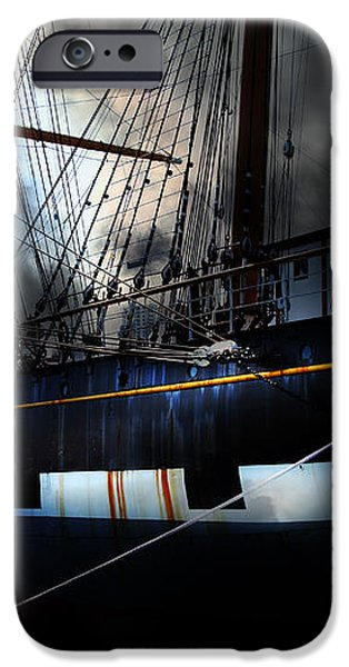 Ghost Ship of The San Francisco Bay . 7D14153 iPhone Case by Wingsdomain Art and Photography