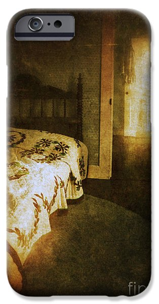 Ghostly Figure in Hallway iPhone Case by Jill Battaglia
