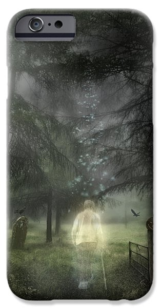 Graveyard Road iPhone Cases - Ghostly Gentleman iPhone Case by Amanda And Christopher Elwell