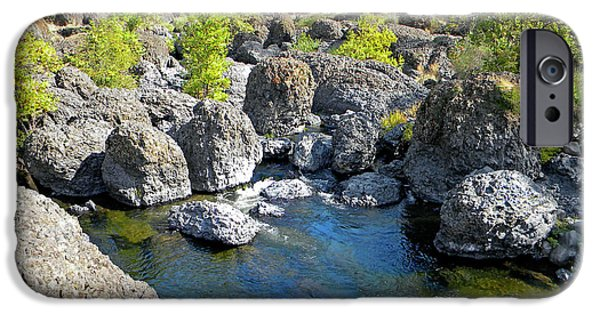 Chico iPhone Cases - Giant Basalt Boulders Swimming Hole iPhone Case by Frank Wilson