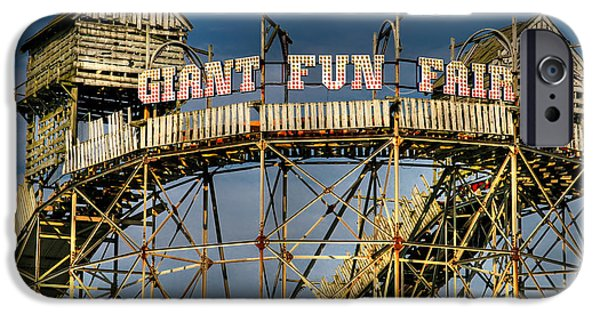 Joints iPhone Cases - Giant Fun Fair iPhone Case by Adrian Evans