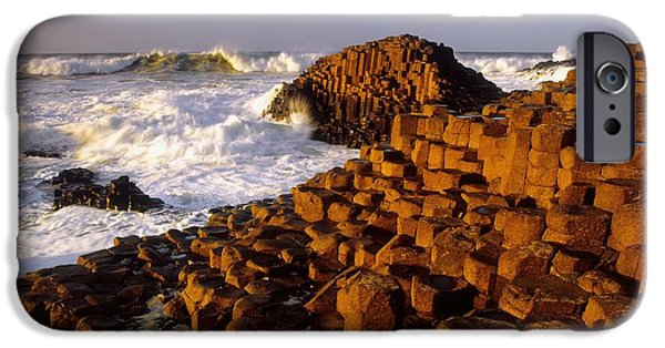 Historic Site iPhone Cases - Giants Causeway, County Antrim, Ireland iPhone Case by The Irish Image Collection
