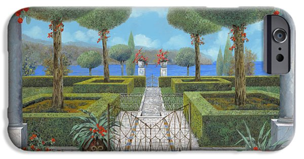 Pathway iPhone Cases - Giardino Italiano iPhone Case by Guido Borelli