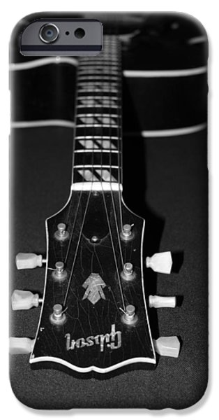 Guitar Strings iPhone Cases - Gibson Perspective iPhone Case by Lauri Novak
