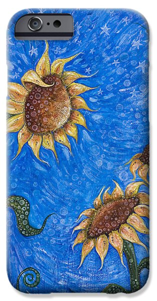 Nature Center Paintings iPhone Cases - Gift of Life iPhone Case by Tanielle Childers