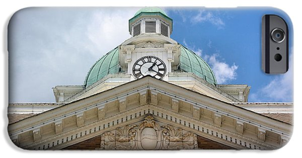 Weathervane Photographs iPhone Cases - Giles County Courthouse Details iPhone Case by Kristin Elmquist