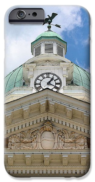 Giles County Courthouse Details iPhone Case by Kristin Elmquist