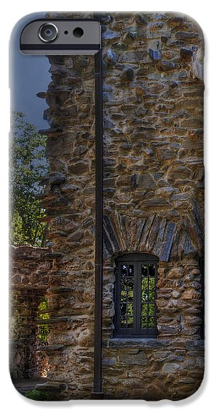 Gillette Castle exterior HDR iPhone Case by Susan Candelario