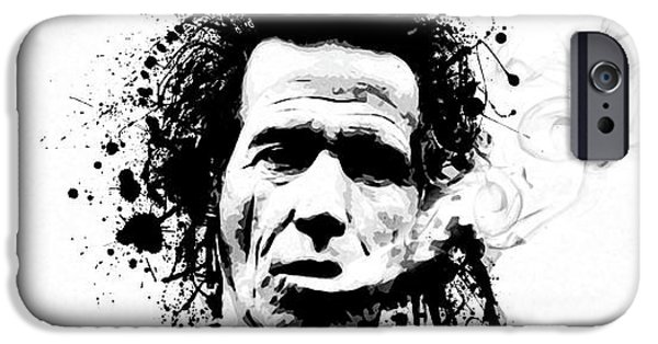 Keith Richards iPhone Cases - Gimme Shelter iPhone Case by Laurence Adamson