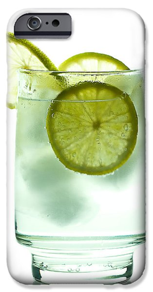 Lemon Drops iPhone Cases - Gin and Tonic iPhone Case by Gert Lavsen