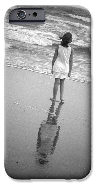 Girl by Ocean iPhone Case by Kelly Hazel