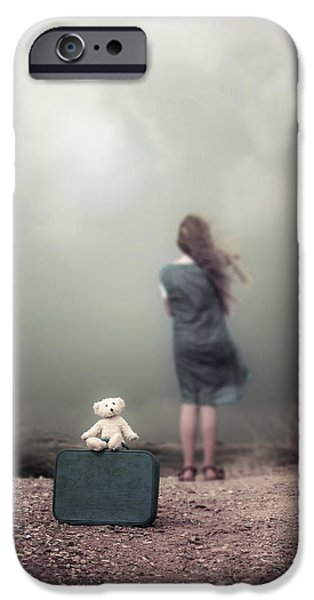 girl in the dunes iPhone Case by Joana Kruse