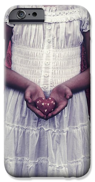 girl with a heart iPhone Case by Joana Kruse