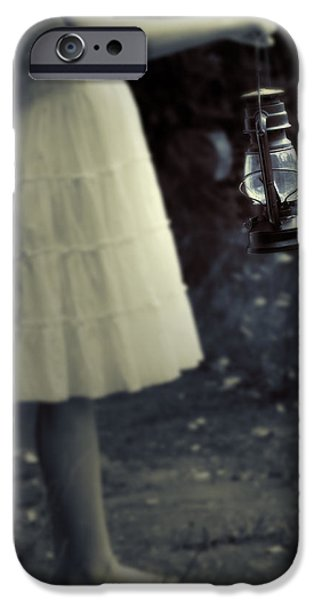 Oil Lamp Photographs iPhone Cases - Girl With An Oil Lamp iPhone Case by Joana Kruse