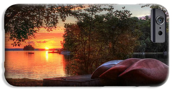 Canoe iPhone Cases - Give Me a Canoe iPhone Case by Lori Deiter