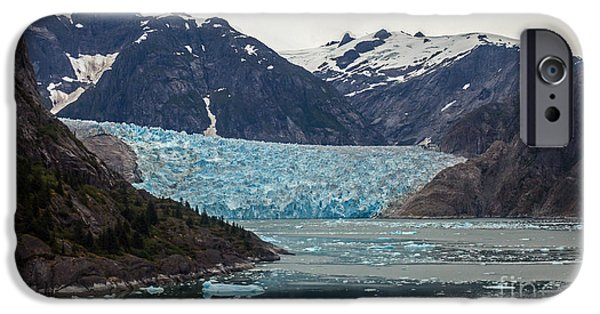 Norway iPhone Cases - Glacial Bay and Ice iPhone Case by Mike Reid