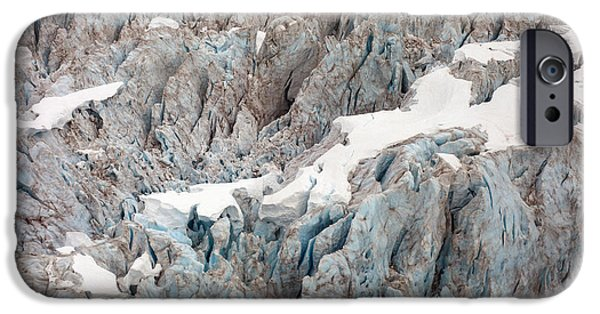 Norway iPhone Cases - Glacial Crevasses iPhone Case by Mike Reid