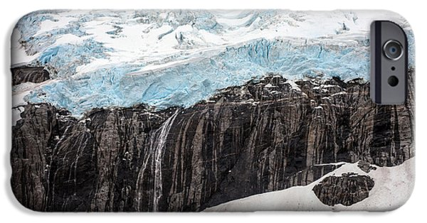 Norway iPhone Cases - Glacial Edge Waterfall iPhone Case by Mike Reid