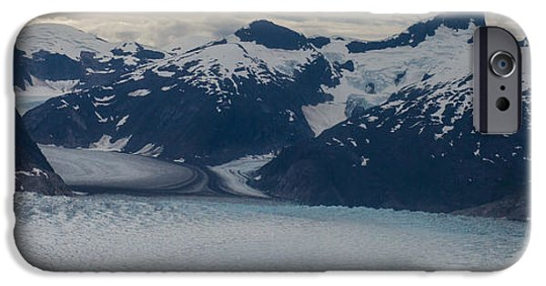 Norway iPhone Cases - Glacial Panorama iPhone Case by Mike Reid