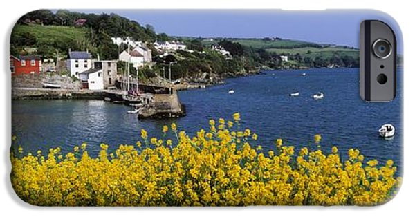Flower Of Life iPhone Cases - Glandore Village & Harbour, Co Cork iPhone Case by The Irish Image Collection