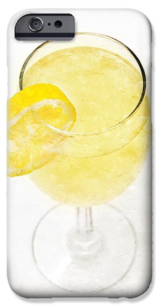 Glass of Lemonade iPhone Case by Andee Design