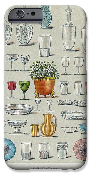 Glassware, Historical Artwork iPhone Case by Mid-manhattan Picture Collectionglassnew York Public Library