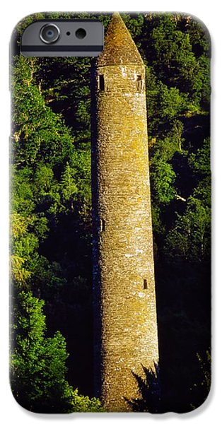 Historic Site iPhone Cases - Glendalough, Co Wicklow, Ireland Round iPhone Case by The Irish Image Collection