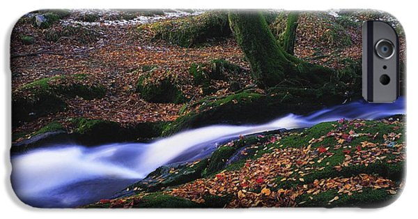 Snowy Brook iPhone Cases - Glenmacnass Waterfall, Co Wicklow iPhone Case by The Irish Image Collection
