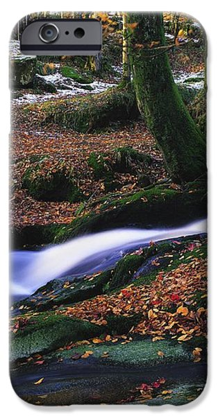 Glenmacnass Waterfall, Co Wicklow iPhone Case by The Irish Image Collection