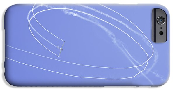 Planes Photographs iPhone Cases - Glider Aerobatics At Airshow Canvas Photo Poster Print iPhone Case by Keith Webber Jr