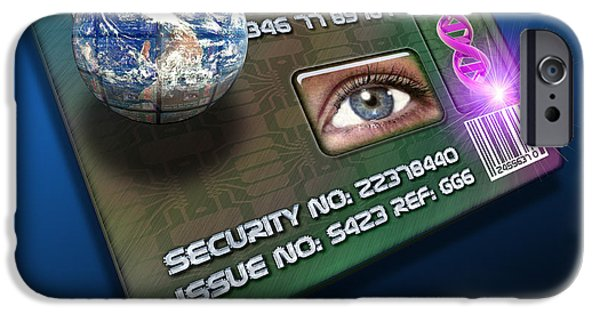 Civil Liberties iPhone Cases - Global Id Card iPhone Case by Victor Habbick Visions