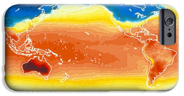 Model iPhone Cases - Global Sea Surface Temperature iPhone Case by Nasa