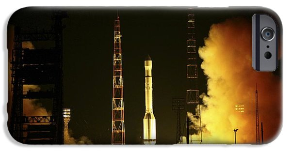 Launching System iPhone Cases - Glonass Satellite Launch, 2010 iPhone Case by Ria Novosti