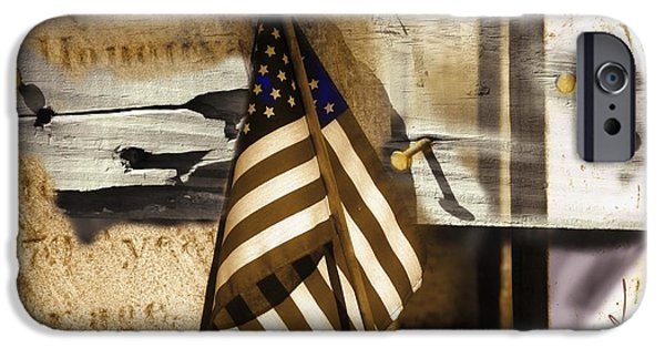 Old Glory iPhone Cases - Glory iPhone Case by Bob Salo