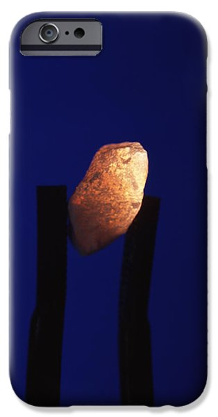 Tweezers iPhone Cases - Glowing Limestone Chip iPhone Case by Andrew Lambert Photography