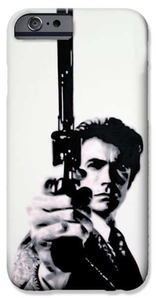 Go Ahead Punk Make My Day iPhone Case by Luis Ludzska
