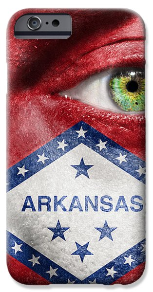 Go Arkansas  iPhone Case by Semmick Photo