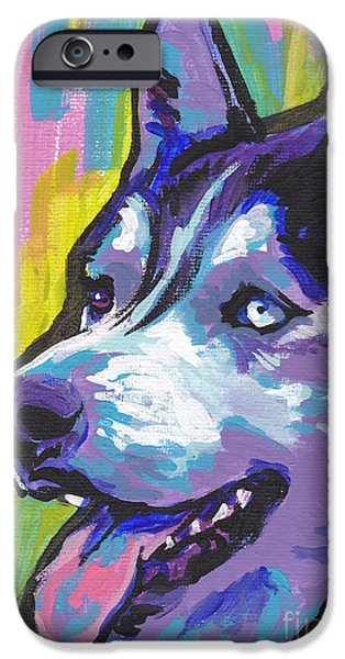 Husky iPhone Cases - Go Husky iPhone Case by Lea