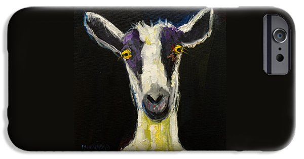 Rural Scenes iPhone Cases - Goat Gloat iPhone Case by Diane Whitehead