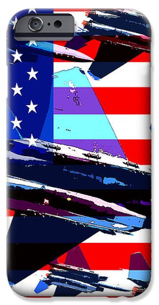 God Bless America Land Of The Free iPhone Case by Wingsdomain Art and Photography