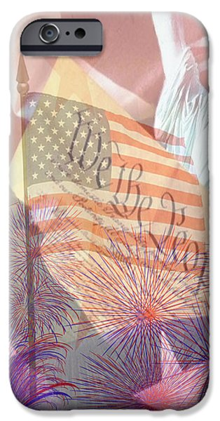 God Bless the USA iPhone Case by Cheryl Young