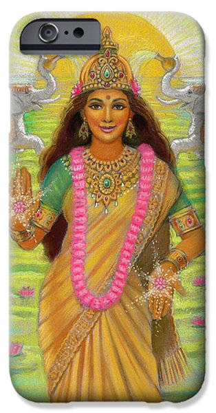 Recently Sold -  - Hindu Goddess iPhone Cases - Goddess Lakshmi iPhone Case by Sue Halstenberg