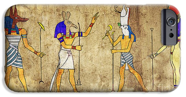 Horus iPhone Cases - Gods of Ancient Egypt iPhone Case by Michal Boubin
