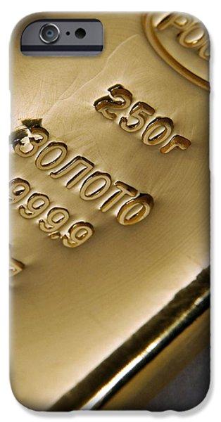 Gold Bullion iPhone Case by Ria Novosti
