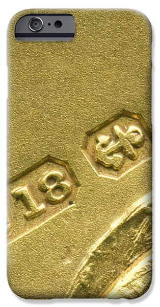 Gold Hallmarks, 1897 iPhone Case by Sheila Terry