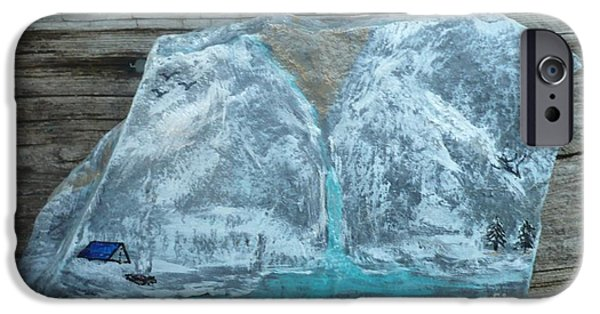Fun Sculptures iPhone Cases - Gold in Mountain iPhone Case by Monika Dickson-Shepherdson